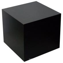 Black Cube Table Wood Pedestal