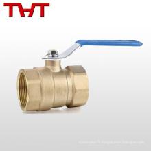 cw617n robinet à tournant sphérique principal d'écoulement en laiton avec le mètre d'eau de serrure