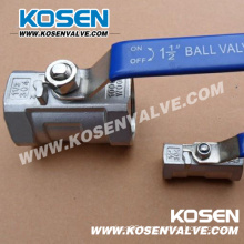 One Piece Thread Stainless Steel Ball Valves