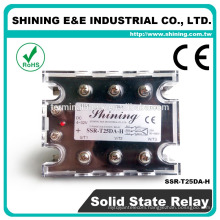 SSR-T25DA With Cover 24VDC DC 25A 3 Phase Solid State Relay SSR