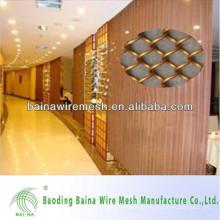 2015 fabricação de porcelana alibaba cortina de malha de metal elegante Cortina de malha metálica decorativa