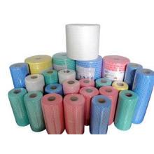 Multi Purpose spunlace Nonwoven Cleaning Cloth Roll / Dishc
