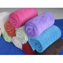 Solid Color Coral Fleece Blanket 850g
