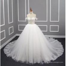 Принцесса/линия 2017 реального свадебное платье с аппликации