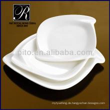 P & T Porzellan Fabrik, rechteckige Platten, Platten in Set