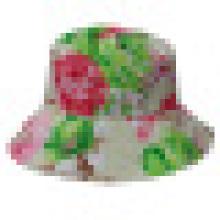 Chapéu de balde com tecido floral (BT027)