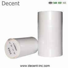 Decent White Die Cut Custom Sticker Logo OEM Printing Blank Adhesive Barcode Thermal Paper Label Roll