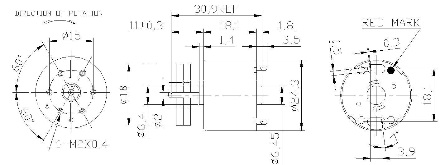 RF310 Vibration motor