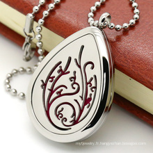 Fashion Customized Hollowed-out Diffuser Perfume Collier pendentif Locket
