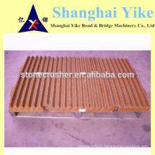Jianshe PE 250 x 1000 pièces de mâchoires pour les concasseurs à mâchoires chinois