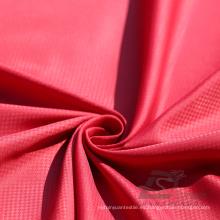 Water & Wind-Resistant Ropa de deportes al aire libre Down Jacket Tejido fantasma Plaid & DOT Jacquard 100% Nylon Tela (N032BB)