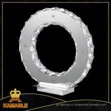Fashional diseño cristal moderno LED lámpara de mesa (MT77057-12A)