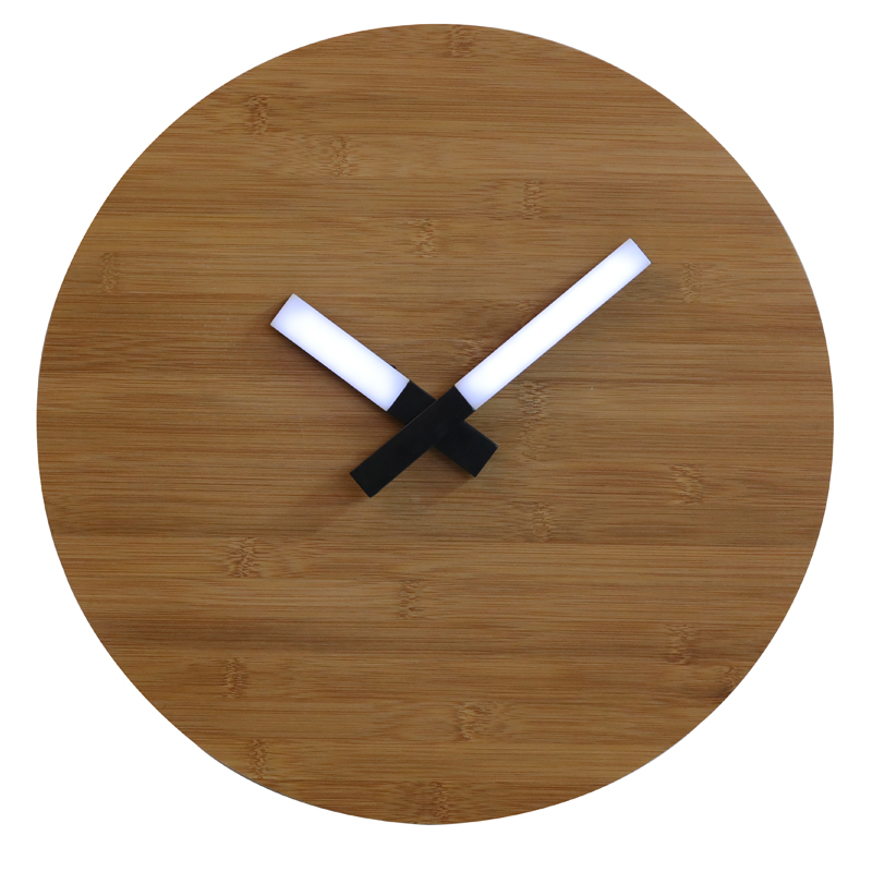 Wooden Wall Clock Led