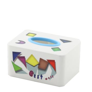Caixa retangular de tecido de moda plástica (FF-5073-2)