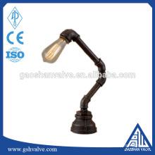 DIY ferro tubo material vintage lâmpada