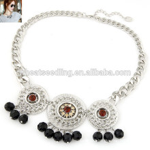 2014 wholesale new style fashion gold and silver coin necklace