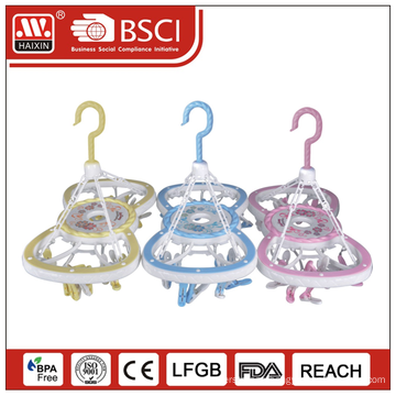 Good quality & Hot sale clothes hanger with 14 clips