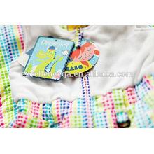 Bonne qualité vêtements enfants étiquettes volantes