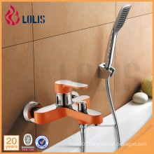 New products chrome zinc orange bath shower faucet with shower head