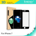 Hochwertiger Screenguard für iPhone 7/7 Plus HD GLASS / 2.5D Siebdruck Full Cover / 3D Kohlefaser Soft Edge / 3D gebogen