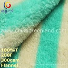 Tissu de flanelle imprimé par polyester 100% pour le textile de vêtement de pyjamas (GLLML248)