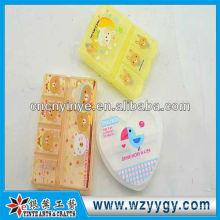 Novo projeto bonito caixas de plástico para a pílula, caixa do comprimido impressão oem
