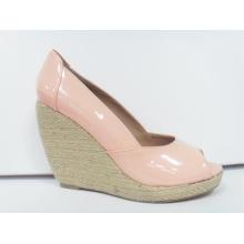 2016 nuevas sandalias de las mujeres del peep toe de las mujeres del diseño (HCY03-104)