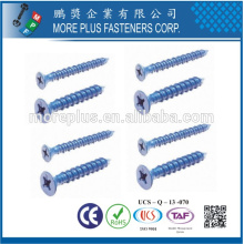 Feito em Taiwan OEM Custom Tapcon Window Flat Head Concrete Screw