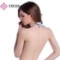 Bridal Backless Plunge Soft Fabric Halter Neck Bra