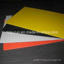 Panneau en plastique coloré de PVC de 1.22m * 2.44m