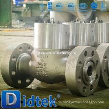 Didtek Hochdruckguss-Stahl-Schwenk-Rückschlagventil mit Flansch