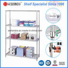 Hot Sale 4 Tiers cromo Metal Wire Stationery Display Rack