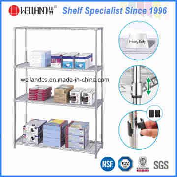 Estante de exhibición caliente de los efectos de escritorio del alambre del metal del cromo de las ventas 4