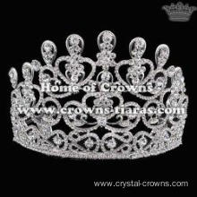 Alloy Crystal Heart Shaped Pageant Party Crowns