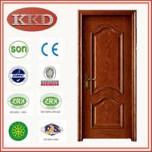 Calor transferencia de sólida madera puerta MD-502 con madera de abeto interior