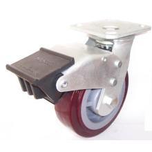 Roulette pivotante pivotante robuste à double frein