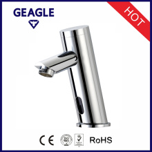 Integrated Bathroom Automatic Sensor Faucet in Chrome with tap Mixer