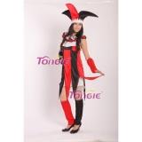 Adult Women's Carnival Halloween Clown Joker Jester Costume