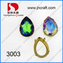 Point Back Crystal Fancy Stone con ajustes de Chaton (DZ-3003)