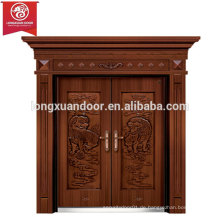 Fabrik Custom Front Entry Türen, Double Swing Bronze Tür, Villa Kupfer Tür