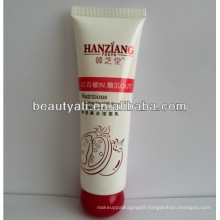 Plastic cosmetic packaging tube with special cap
