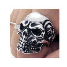 Cool fashion stainless steel skull rings for men
