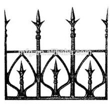 2014 Новый орнаментальный чугунный наконечник копья / чугун или кованый забор Железный наконечник копья
