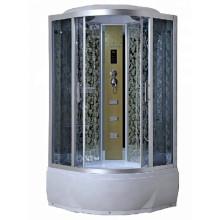 Cabine de douche à vapeur d'angle