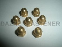 brass hex acorn nut