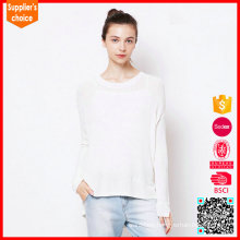 Latest long sleeves cashmere roll neck knitted sweater 100 % cashmere sweater women