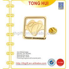 Zinc de aleación de recuerdo lapela pin / insignia de contacto de Shanghai