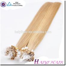 Extensão do cabelo do anel do Virgin das extensões do cabelo humano do preço de grosso
