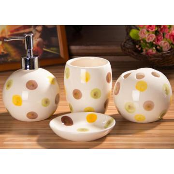 4 PC Of Colorful Ceramic Bath Set