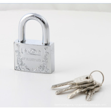 Plastic Cover Arc Shape Atom Padlock White